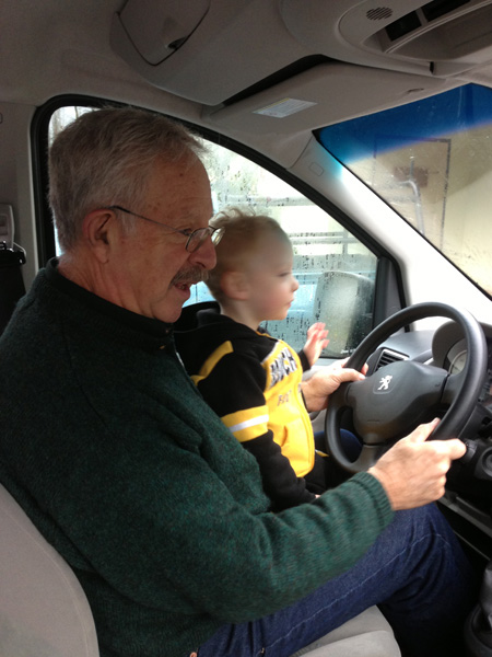 Yayo and Sam driving