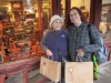 Melissa and Tutu with after their big purse purchase