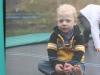 Sam in the trampoline