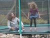 Melissa and Irene take a turn in the trampoline