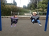 Sam and Evora in the swings