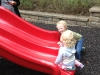 Sam with Emma - on the slides