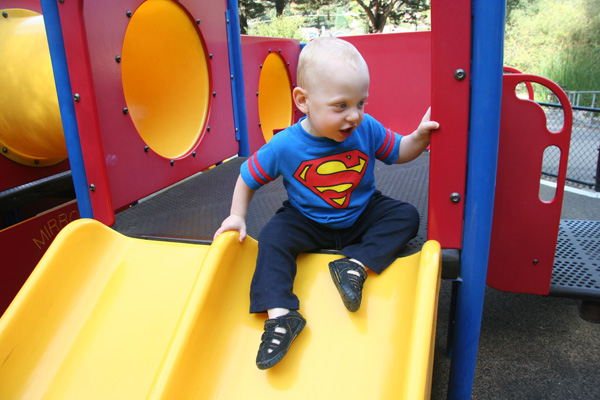 Sam the Anti-Preemie: On the slide