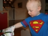 Sam the Anti-Preemie: Tearing the wrapping paper