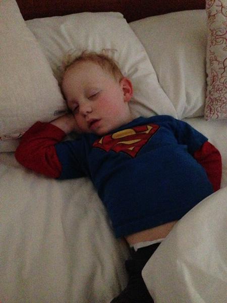 Sleeping Sam channeling his inner model