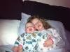 Sam and Irene cuddle