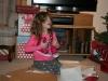 Irene showing her joy at her Santa gift