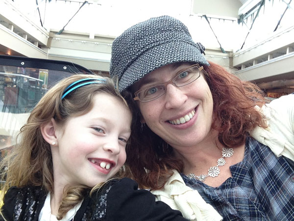 Irene and me on the indoor ferris wheel at Scheel\'s