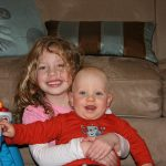 Sam the Anti-Preemie and his sister