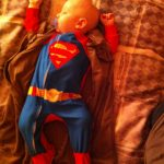 Sam the Anti-Preemie naps
