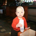 Sam the Anti-Preemie finds a bottle