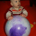 Sam the Anti-Preemie and his ball