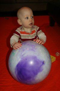 Sam the Anti-Preemie and his ball