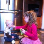Sam the Anti-Preemie sharing with Irene