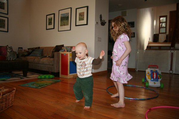 Sam the Anti-Preemie walking