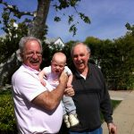 Sam the Anti-Preemie with his grandpa and great grandpa