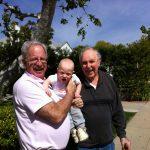 Sam the Anti-Preemie with his grandpa and great grandpa