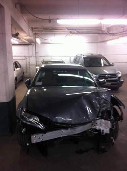 The car damage