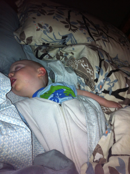 Sam the Anti-Preemie sleeping