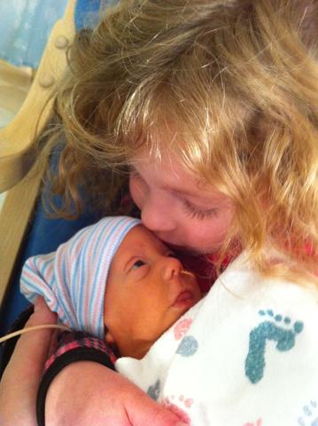 Irene kissing Sam