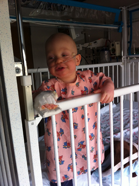 Sam the Anti-Preemie: Children's Hospital 12/21/2011 (treatment for RSV)