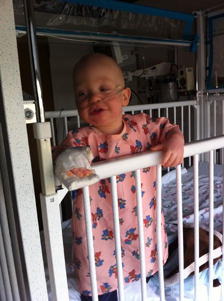 Sam the Anti-Preemie: Children's Hospital 12/21/2011 (treatment for RSV)