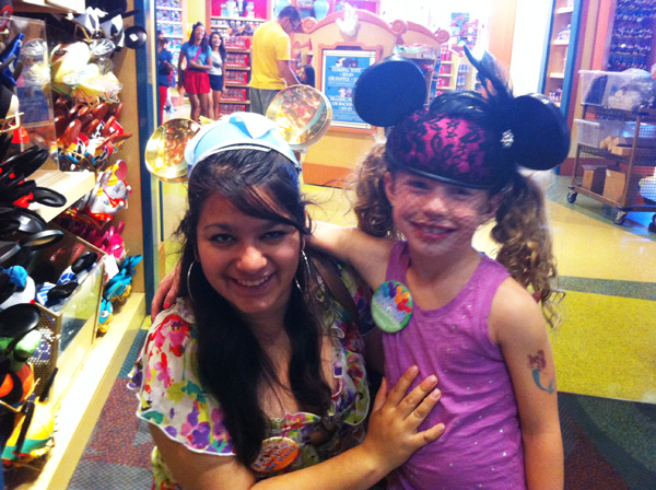 Irene and Rosa at Disneyland
