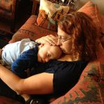 Sam the Anti-Preemie snuggled with mommy