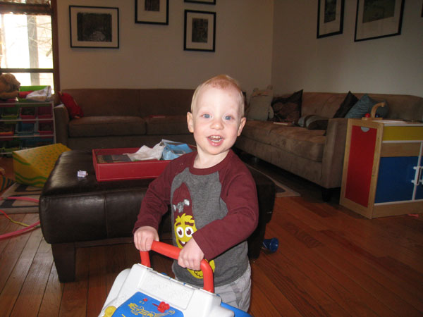 Sam the Anti-Preemie: Cute but causing mom sleepless nights