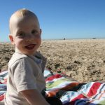 Sam the Anti-Preemie: On the beach