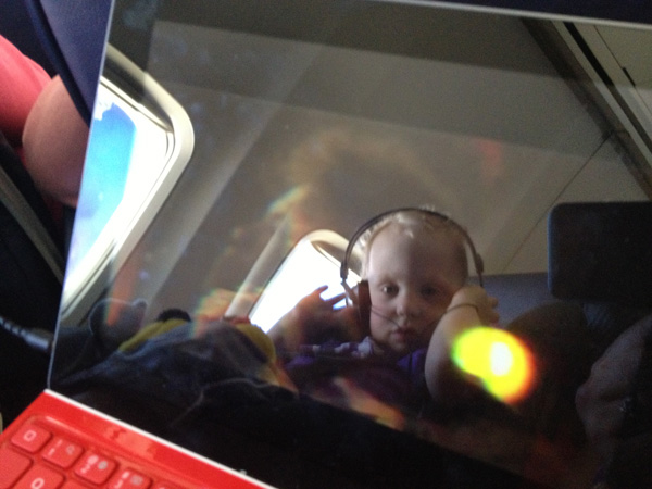 Sam the Anti-Preemie watchs his iPad