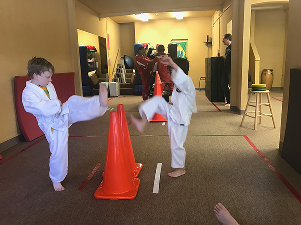 Sam the Anti-Preemie does Martial Arts