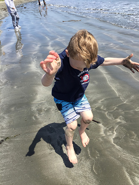 Sam the Anti-Preemie Jumping in the ocean