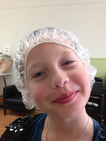 Sam the Anti-Preemie's sister after lice removal