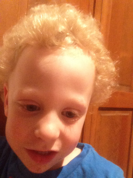 Sam the Anti-Preemie with a fluffy fro