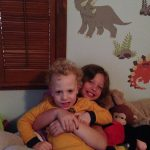 Sam the Anti=Preemie hanging with his sister