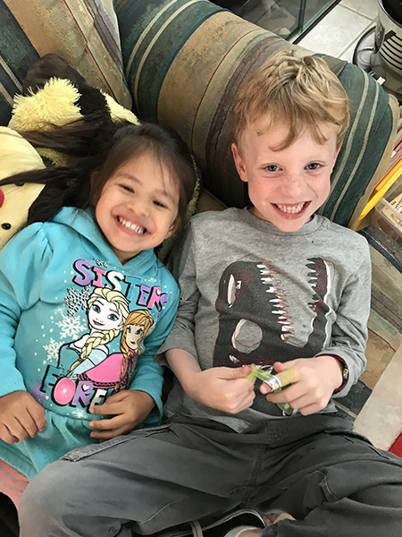 Sam the Anti-Preemie with Cousin V