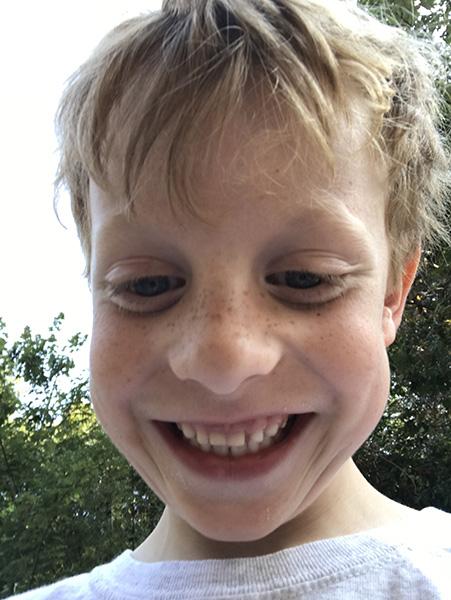 Sam the Anti=Preemie Smiling